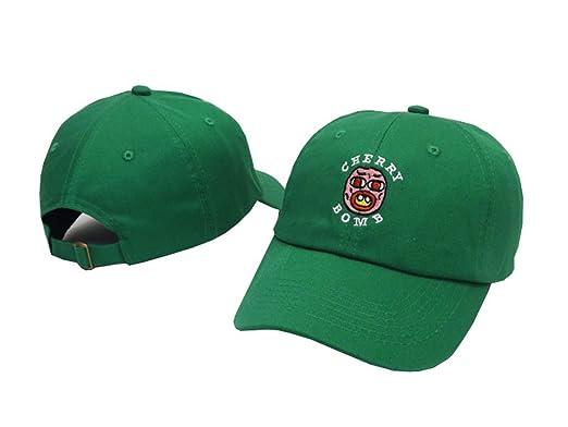 Golf Wang Cherry Bomb Baseball Snapback Cap Hat Cotton Adjustable Green One  Size 83ade0e0056