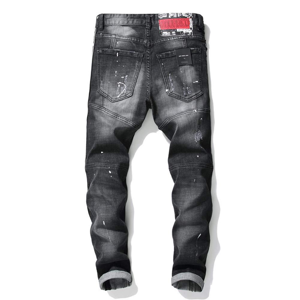 SFSF Jeans de Hombre Gama Alta Pantalones elásticos Empalme ...