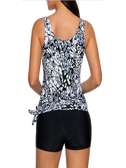DEELIN Conjunto Tankini De Mujer Shorts para NiñO Ropa De BañO De Mujer Traje De BañO De Dos Piezas Verano: Amazon.es: Ropa y accesorios