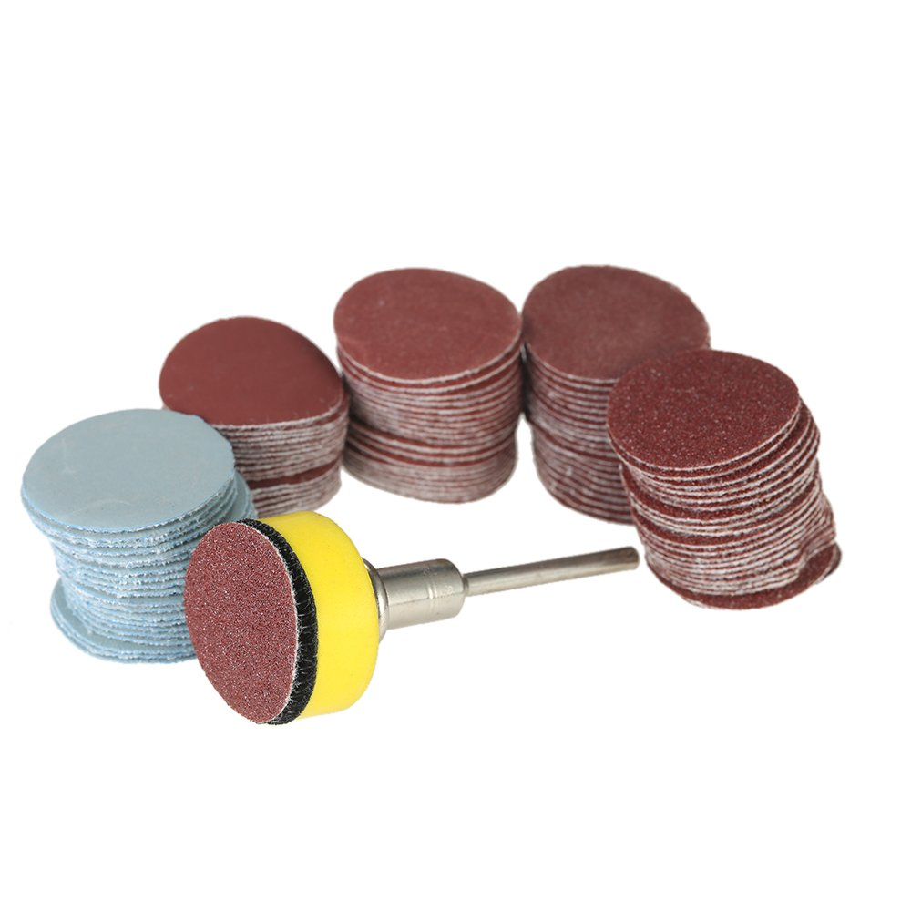 """KKmoon 100PCS 25mm 1"""" Sander Disc Sanding Disk"""