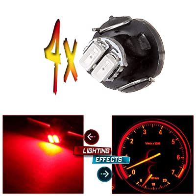 cciyu T3 Neo Wedge LED A/C Climate Control Lights 8mm Instrument Panel Gauge Cluster Dashboard LED Bulb(red): Automotive