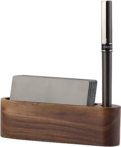 Faletony - Caja de almacenamiento de madera para tarjetas de ...