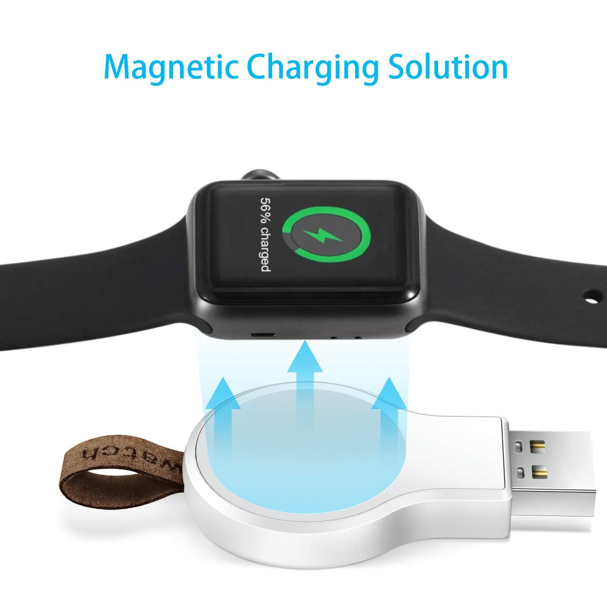 SKNONO Wireless Charger for Apple Watch, Portable Magnetic Apple Watch Charger, Compatible with iWatch1/2/3/4/5 (38mm 40mm 42mm 44mm)