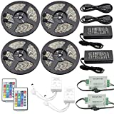 IWISHLIGHT 20M 4Rolls 65.6FT Waterproof IP67 LED RGB Color Changing Flexible Strip Decoration Pack for Outdoors,Gardens,Homes,Wedding,Christmas Season,Party,Bars