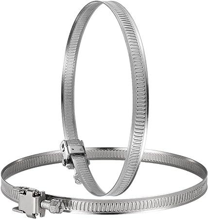 Hon&Guan Abrazadera Manguera Ajustable de Acero Inoxidable para Tubo, Ventilador Extractor de Aire - 2 piezas (150mm): Amazon.es: Hogar