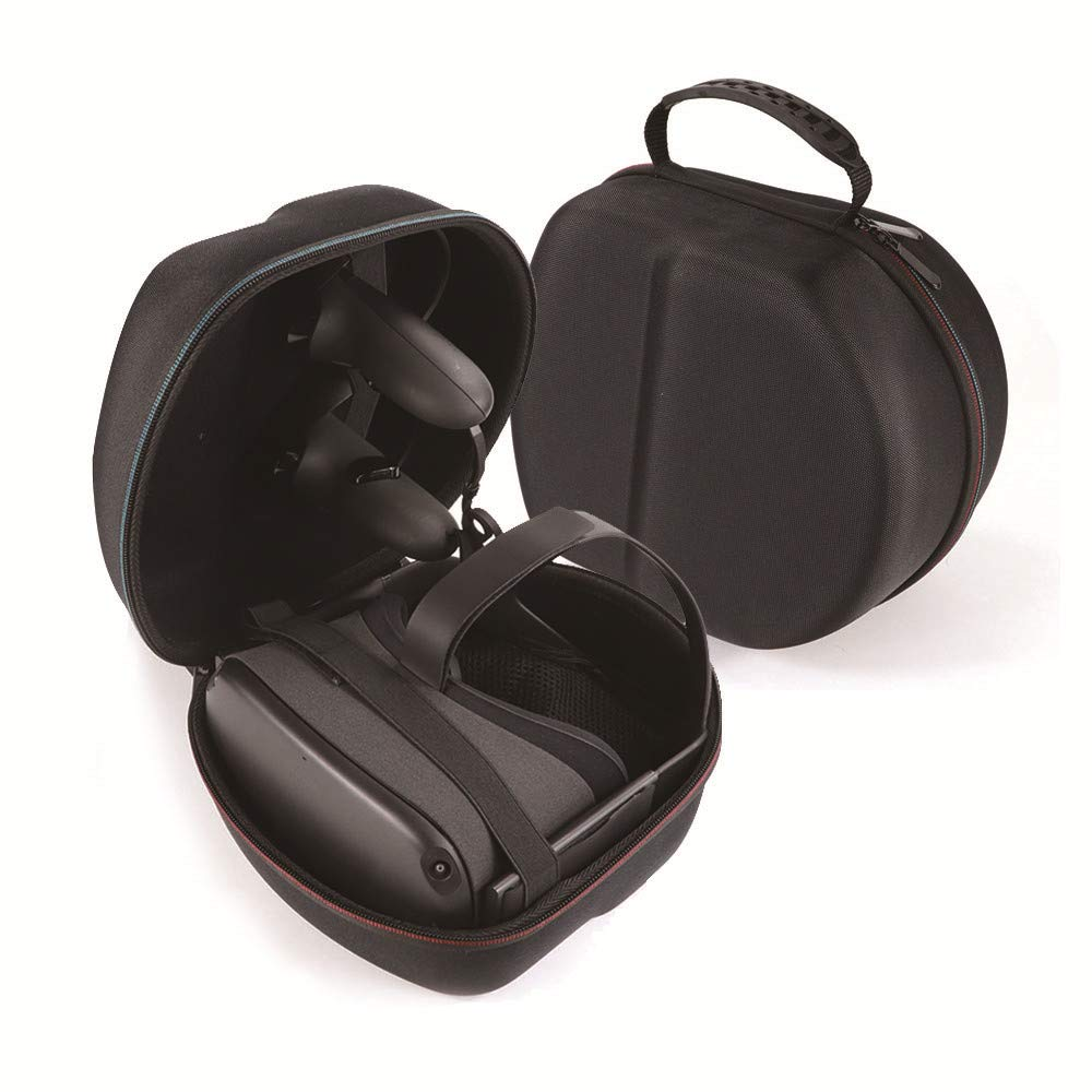 MASiKEN Hard EVA Case for Oculus Quest All-in-one VR Gaming Headset, Oculus Quest Travel Carrying Case (Black+Black) by MASiKEN