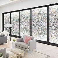 RABBITGOO 3D No Glue Static Decorative Window Films for Glass Non-Adhesive Heat Control Anti Uv 17.7in. by 70.8in. (45cm x 180cm) from GLOBEGOU CO.,LTD