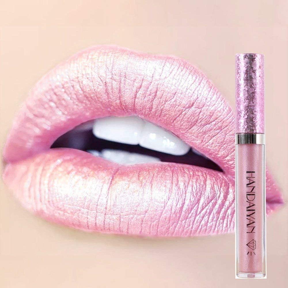 METALLIC Lipstick PALE ROSE Full Size