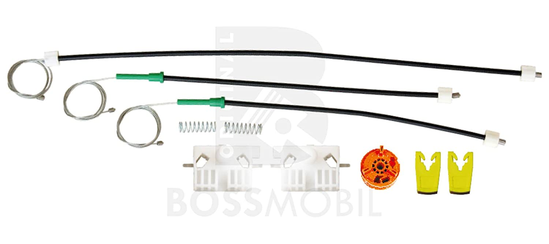 kit de reparaci/ón de elevalunas el/éctricos Delantero izquierdo Bossmobil Clio 3 III BR0//1, CR0//1