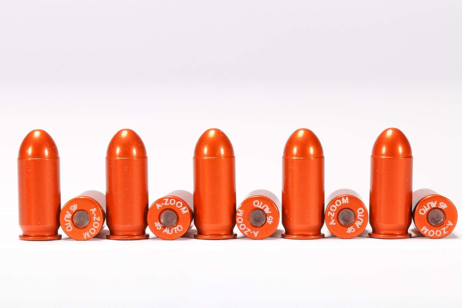 SAF-T-TRAINERS BRIGHTLY COLORED ORANGE SNAP CAPS DUMMY ROUNDS 10 .40 ACP
