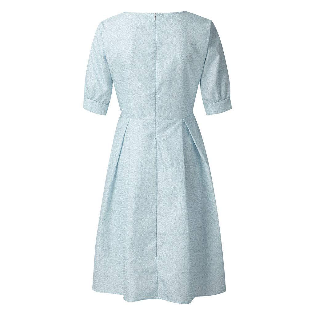 Courtes women Vintage Manches À Saihui Robe Femme D'été Pour Dress R34AjL5