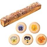 エディブルフラワーのクッキー5枚とショコラブラン1本のギフトセット【結婚式 バレンタインデー ホワイトデー お花のクッキー 引き菓子 引出物 ギフトボックス入り プレゼント スイーツギフト】