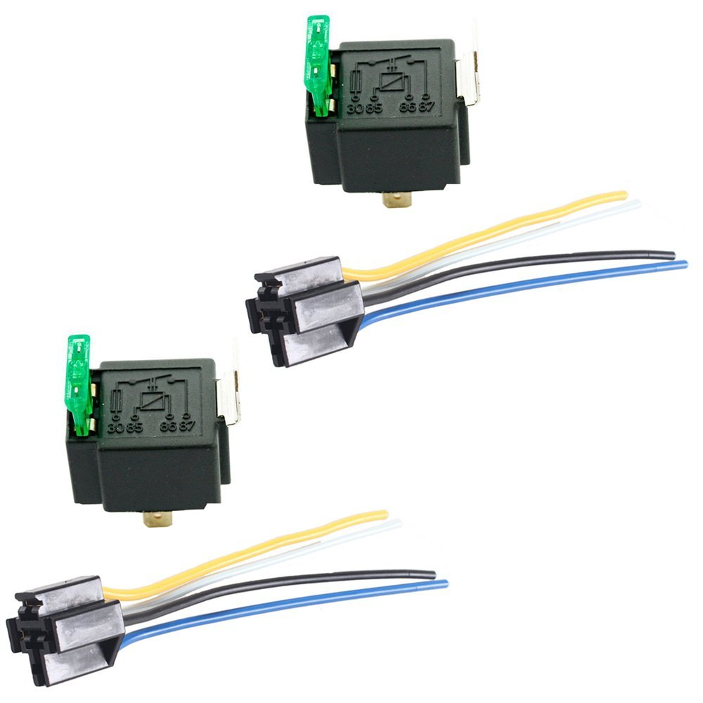 Mintice/™ 5 X 12V 30A Car Vehicle Motor Heavy Duty Relay 4Pin Fuse On//Off SPST Metal