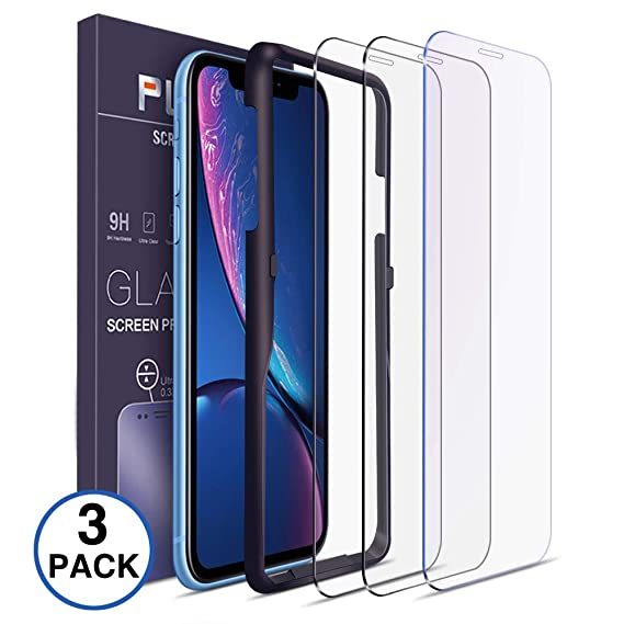 online retailer 13fdf 96d1e Tempered Glass Screen Protector Compatible with iPhone XR Glass Screen  Protector [3 Pack ] Easy Installation