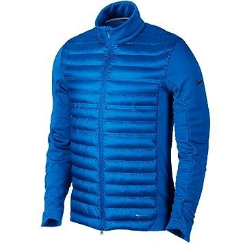Mens Nike Aeroloft Poly Filled Photo Blue/Dark Grey Golf Jacket