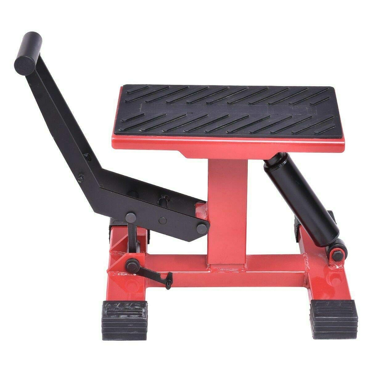 Adumly Motorcycle Dirt Bike Lift Table Lift Stand Height Adjustable W/Damping