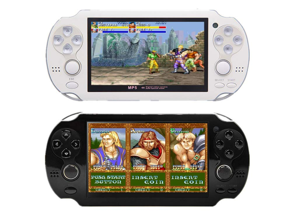 CZT 4.3 inch 8GB Double Joystick Handheld Game Console Build in 1200 Games Video Game Console Support Arcade/neogeo/CPS/FC/SFC/GB/GBC/GBA/SMC/SMD/SEGA Games MP4 Player (Black) by CZT (Image #4)