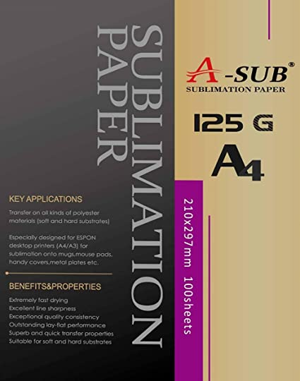 A-SUB papel de sublimación A4 para impresoras EPSON ME Series ...
