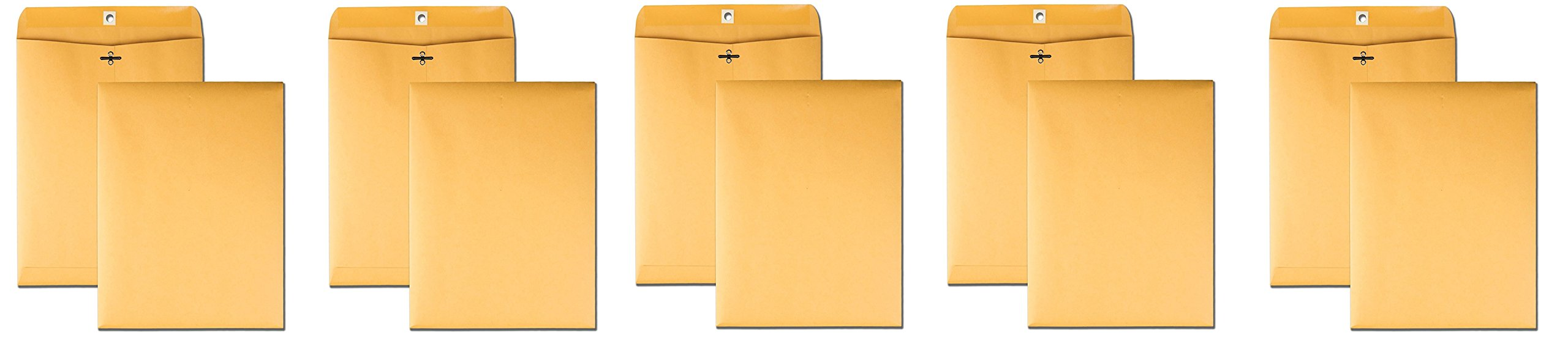 Quality Park Clasp 9 x 12 Inch 28lb Brown Kraft Envelopes 100 Count (37890) (Pack of 500)