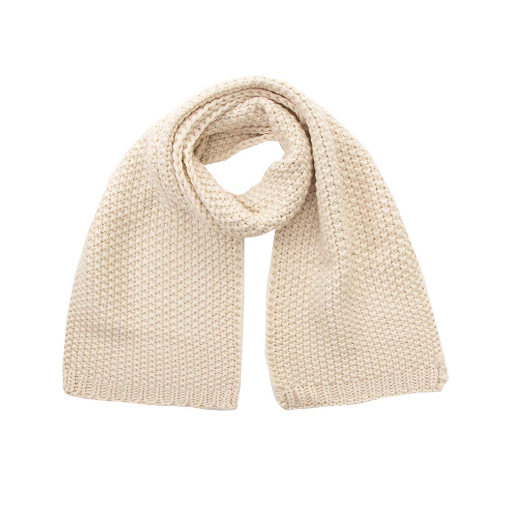 Kids Warm Long Cable Knit Scarf Fashion Toddler Soft Scarf Neck Warmer Winter Scarf