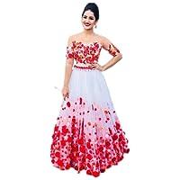 Sai creation Women's Silk Red Lehenga cholis (Sx509_Red_Free Size)