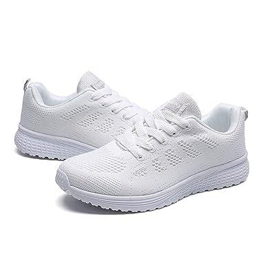 ecbdc56be7be Laiwodun Chaussure de Course à Pied à Lacets Sports Chaussures de Chaussures  Respirantes