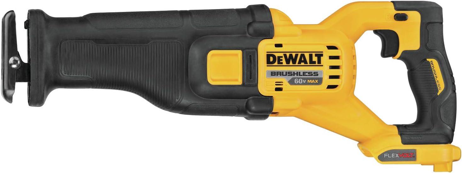 DEWALT FLEXVOLT 60V MAX Cordless Reciprocating Saw, Tool Only (DCS389B)