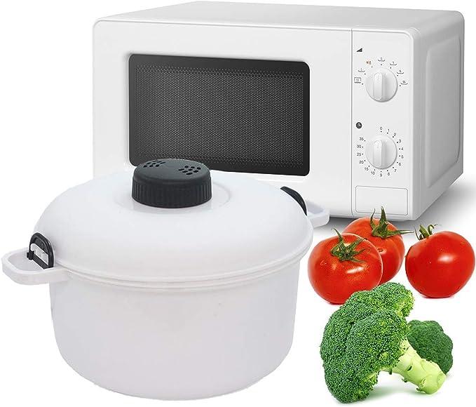 MovilCom® - Olla Vapor microondas   Cocina al Vapor   fácil, rápido y Saludable: Amazon.es: Hogar