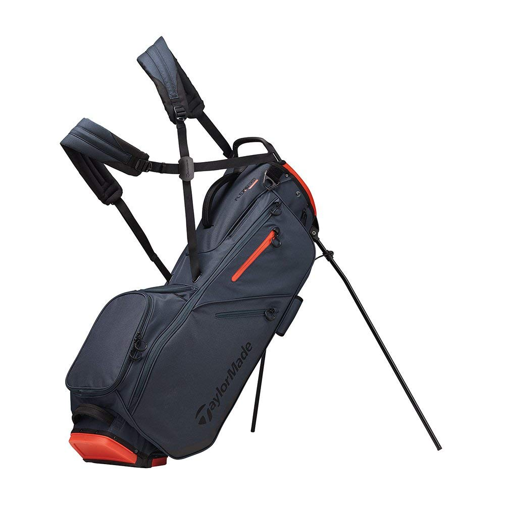 TaylorMade 2019 Flextech Stand Golf Bag, Titanium/Blood Orange by TaylorMade (Image #1)