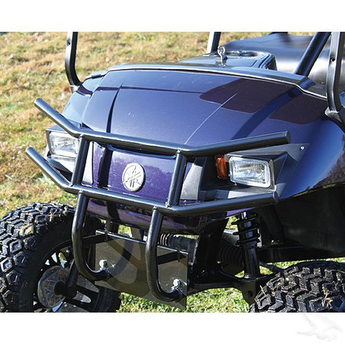 - Yamaha Drive Golf Cart Black Powder Coat Steel Front Brush Guard
