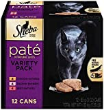 SHEBA PREMIUM PATE in Natural Juices Variety Pack-12 ct. (Beef, Chicken, Salmon) Wet Food for Cats