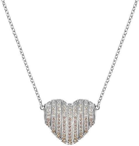 Swarovski 5181467 Collier avec pendentif cœur Blanc et or ...