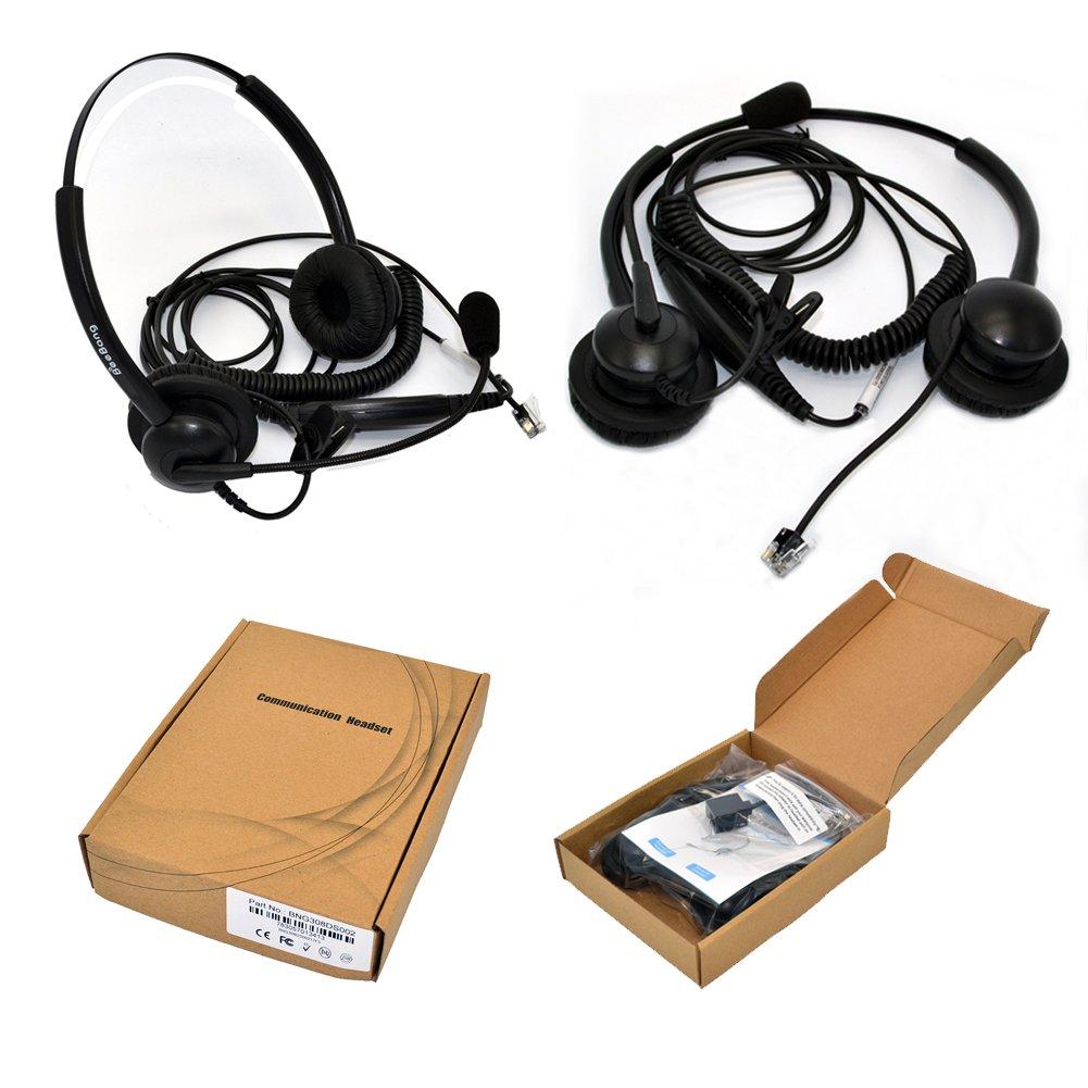 Kabelgebundenes Telefon Headset Binaural Call Center: Amazon.de ...