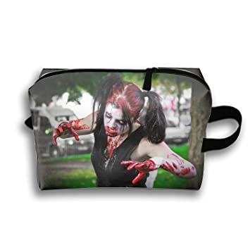 Amazon.com : Waterproof Cosmetic Bags Dark Zombie Portable Travel Makeup Pouch Organizer : Beauty