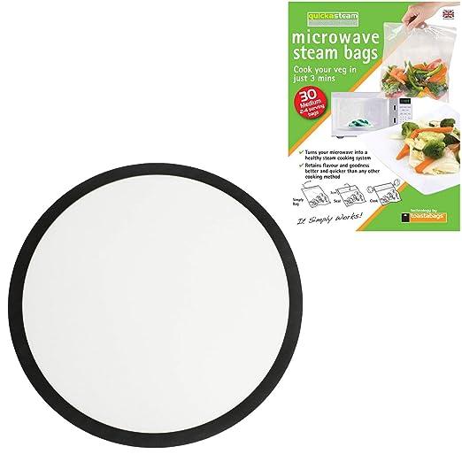 Spares2go - Alfombrilla redonda de silicona para microondas (25 cm ...