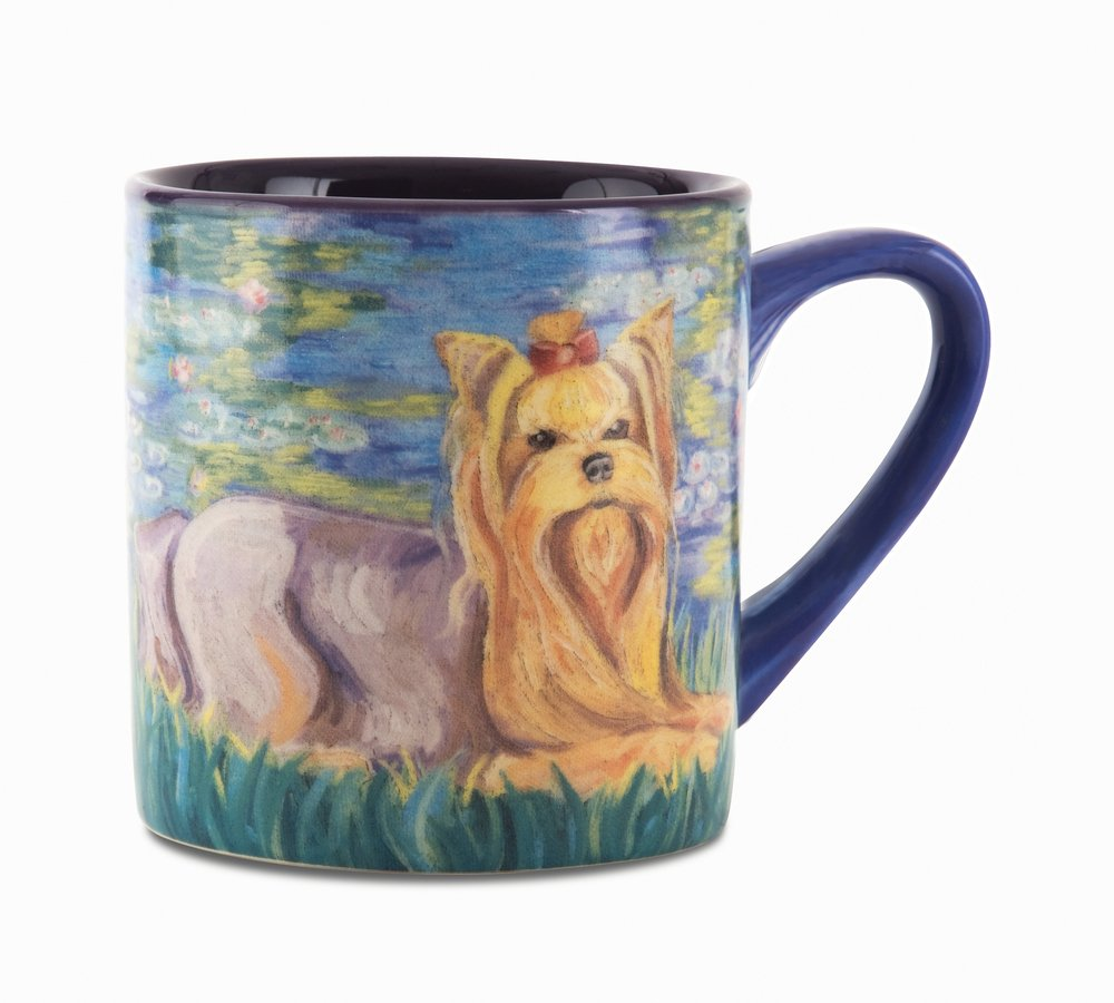 Paw Palettes Yorkshire Terrier Bonet Ceramic Mug 16-Ounce