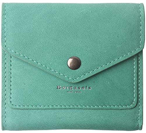Small Leather Wallet for Women, RFID Blocking Women's Credit Card Holder Mini Bifold Pocket Purse (Limited Mint Green)