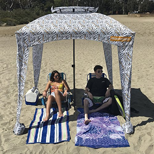 EasyGoProducts Weight Portable & Comfortable Cabana with Uv 50+ Protection, Brown Leaves