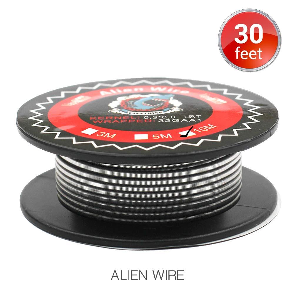 10M Vapethink Ni80 Fused Clapton Nicrome Wire, Alambre de Calefacció n AWG 26GAx2(A1,Parallel+32GA(Ni80), Resistencia Vape Coil Alambre de Calefacción AWG 26GAx2(A1