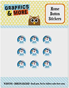 Frosty The Snowman Snowing Set of 9 Puffy Bubble Home Button Stickers Fit Apple iPod Touch, iPad Air Mini, iPhone 5/5c/5s 6/6s 7/7s Plus