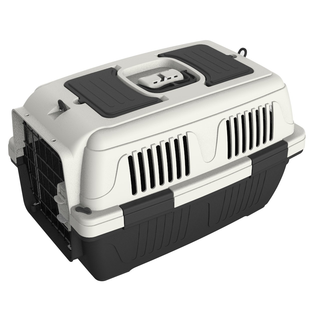Animal Treasures PS7907 Deluxe Dog Kennel, Small/23'', Gray/White