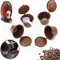 Angoter 4PCS Dolce Gusto Café Cápsula Plsatic Recargable de café de la cápsula Reutilizable 200 Veces Compatible con…