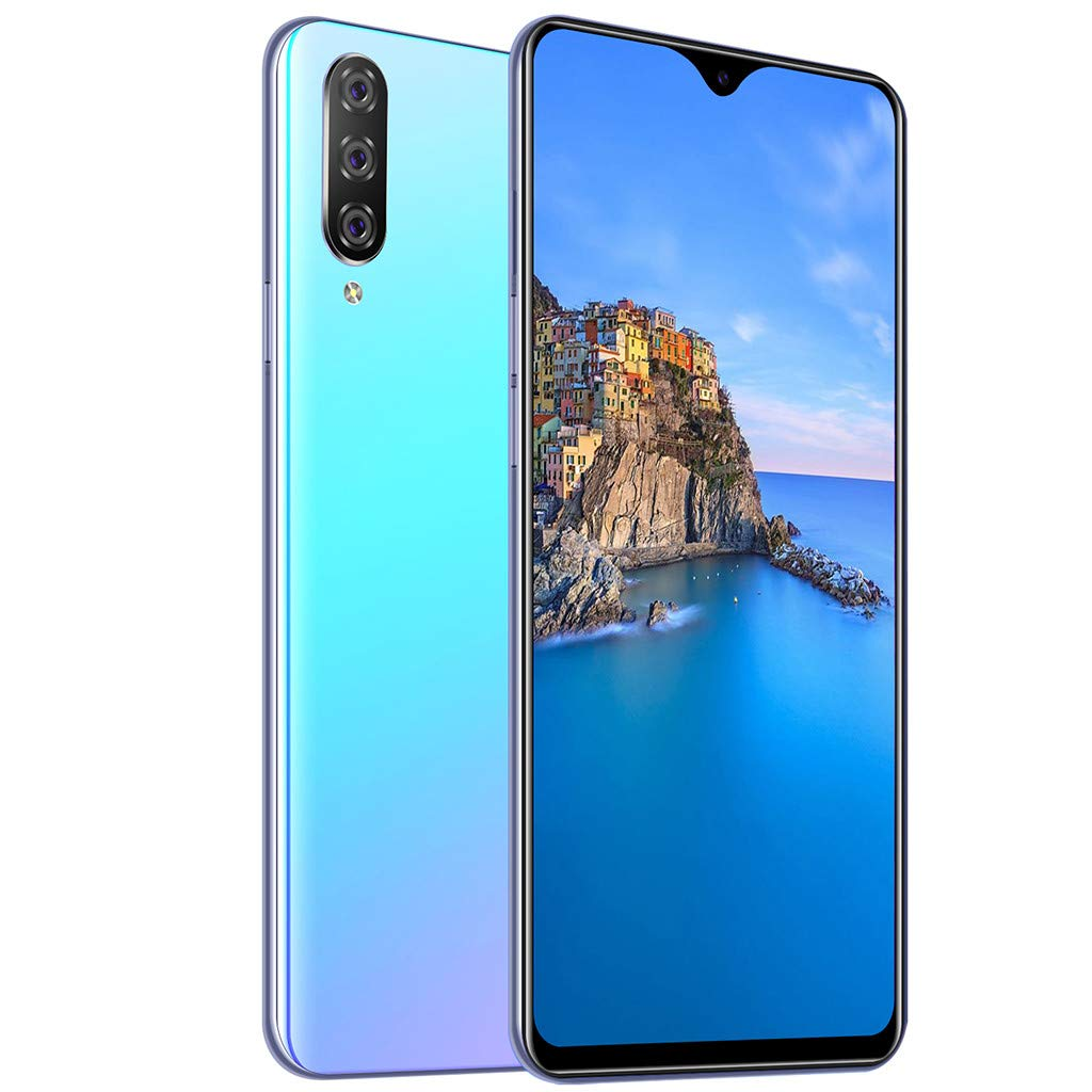 M9 Unlocked Mobile Smart Phone,Eight Core 6.3inch Drop Screen Android 9.1 1G+16G GPS 3G Call Smartphone Suitable for Facebook (154×76×8mm, Blue)