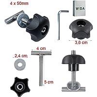 Online-Blitz24 GmbH Wida - Roestvrij stalen bevestigingsschroeven 25mm - 50mm - 60mm -70mm T-schroeven Rastrail…