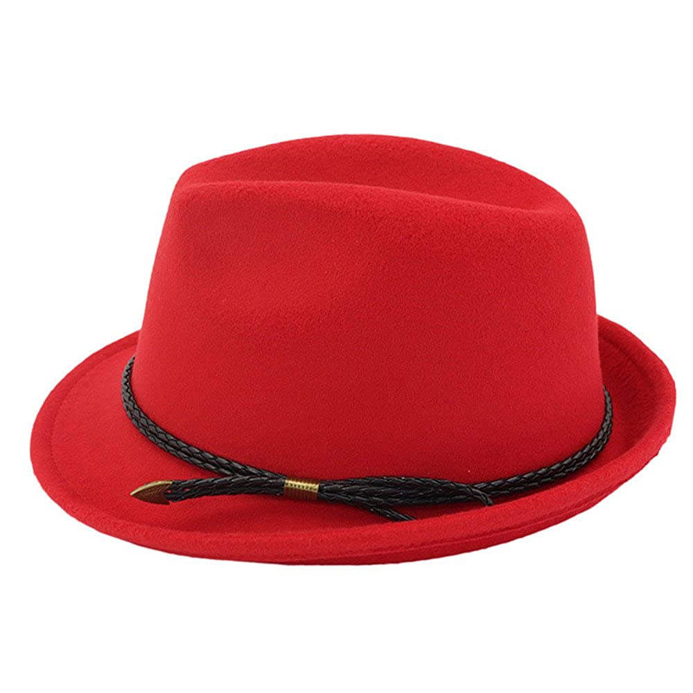 df927b30d77 Trilby Hat Felt Fedoras Hat Women Men Autumn Classic Plain Jazz Hat ...