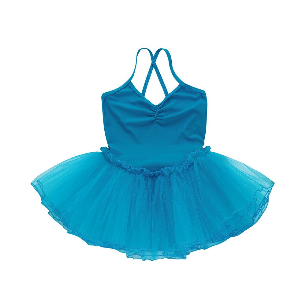 2-6 Years Toddler Girl's Ballet Dress Cute Tutu Dance Dress Gymnastics Strap Sweetheart Leotard Clothes Outfits (Blue, 6T(6 Years)) by Cealu (Image #1)