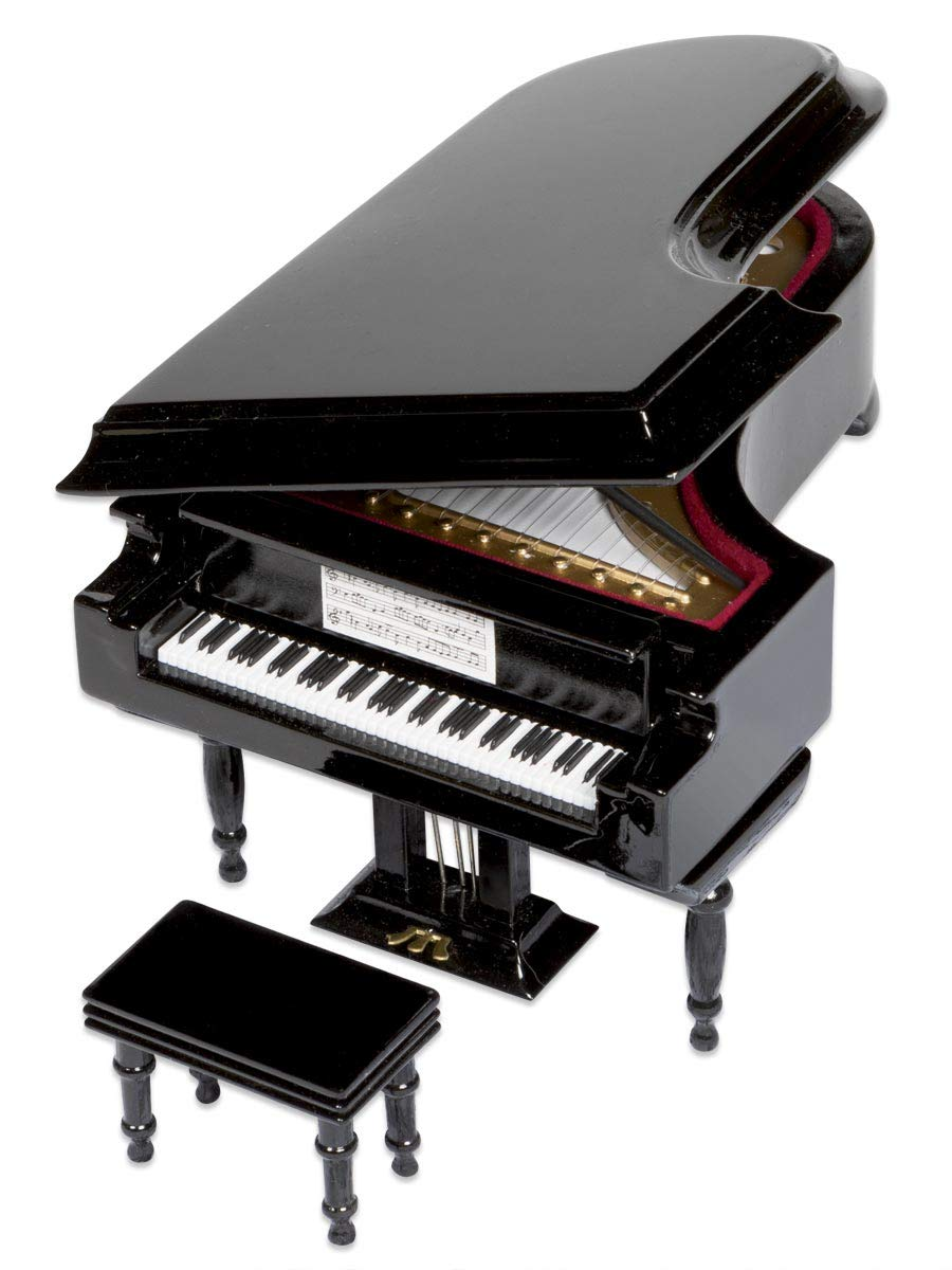 ComputerGear Classical Miniature Black Baby Grand Piano Music Box with Bench and Black Case (Für Elise) by ComputerGear