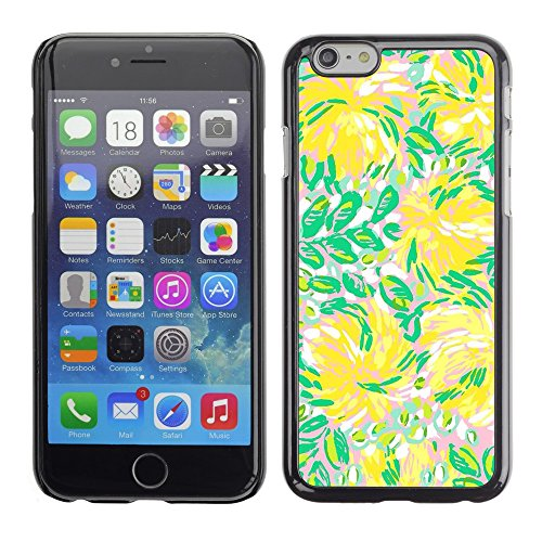 Soft Silicone Rubber Case Hard Cover Protective Accessory Compatible with Apple iPhone? 6 (4.7 Inch) - green flowers flow summer