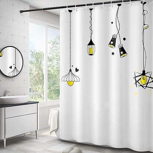 SHIYID Mampara de baño Lona de separación Inodoro Cortina de Ducha perforación Libre Cortina de baño baño Cortina de separación de Alto Grado en seco y húmedo 120x180cm: Amazon.es: Hogar