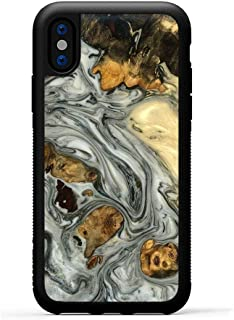 product image for Carved - Wood+Resin Case for iPhone Xs/iPhone X - One-of-A-Kind, Protective Traveler Bumper Cover (ID: 105000, Black & White)